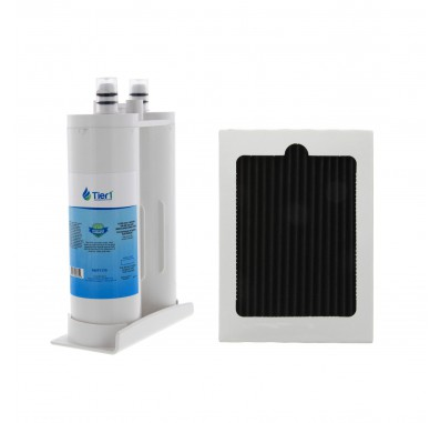Tier1 Electrolux EWF01 Pure Advantage Comparable Refrigerator Water Filter Combo with EAFCBF Air Filter