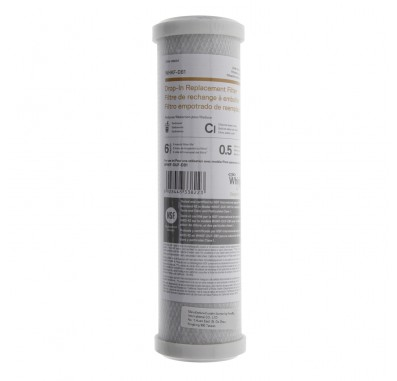Whirlpool WHKF-DB1 Under Sink Replacement Carbon Water Filter Cartridge (10-Inch x 2.5-Inch)