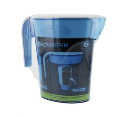 ZeroWater ZP-006 6-cup Space Saver Water Pitcher - Blue