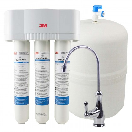 3M 3MRO301 Under Sink Reverse Osmosis Water Filter System