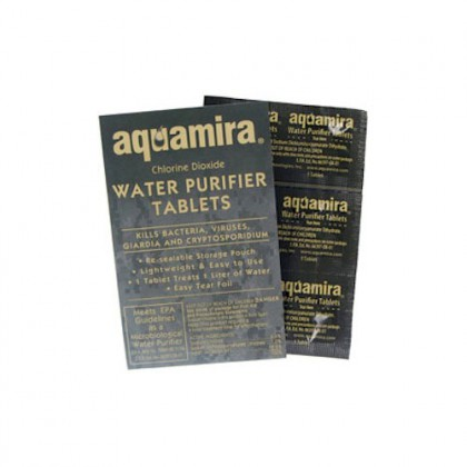 Aquamira 67405 Water Purifier Tablets (Military) (10-Pack)