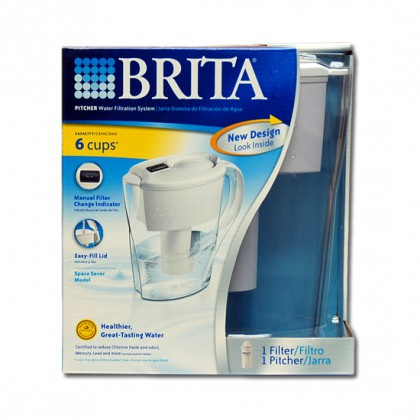 Brita OB21 Space Saver Water Filter Pitcher 35250