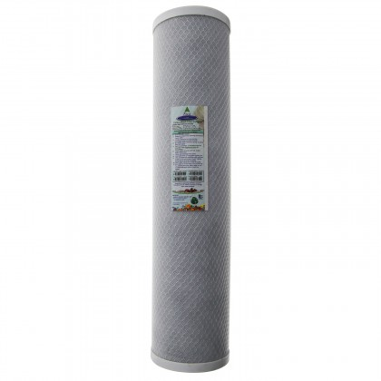 Crystal Quest 4-5/8 in x 20 in, 5-Micron Carbon Block Filter Cartridge