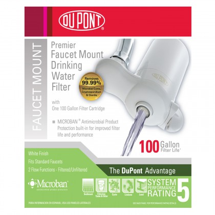 WFFM100XW Premier Faucet Mount Drinking Water Filter System by DuPont