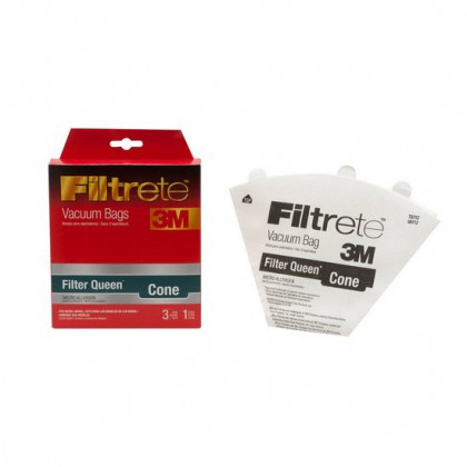 Filtrete 68712 FilterQueen Cone Vacuum Bags and Filter (3 bags / 1 filter)