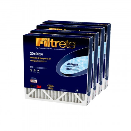 20x20x4 3M Filtrete Allergen Reduction Filter (4-Pack)