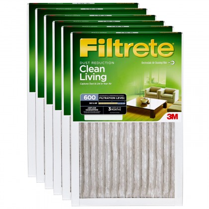 12x24x1 3M Filtrete Dust and Pollen Filter (6-Pack)