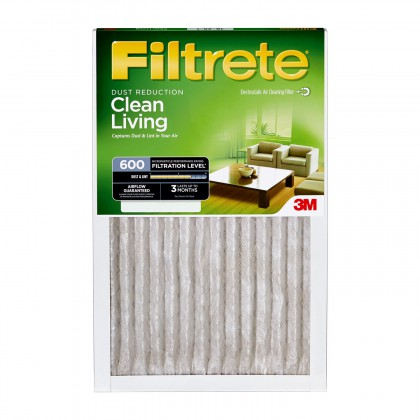 600 3M Filtrete Dust & Pollen 16x16x1 Air Filter