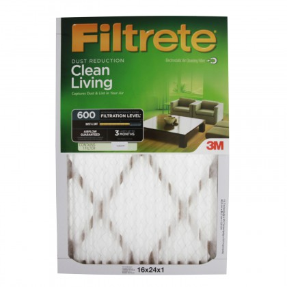 600 3M Filtrete Dust & Pollen 16x24x1 Air Filter