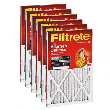 3M Filtrete 9801DC-6 Micro Allergen Reduction Filters (6 Pack)