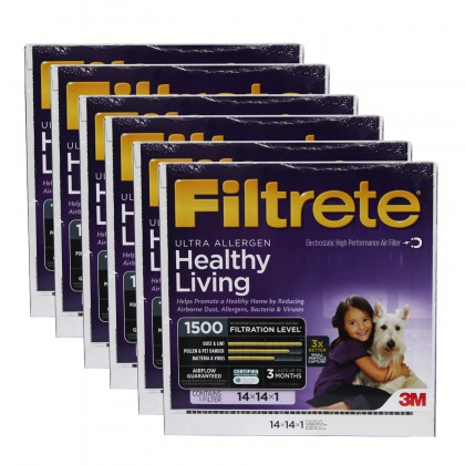 14x14x1 3M Filtrete Ultra Allergen Filter (6-Pack)