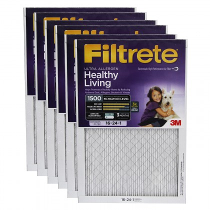 16x24x1 3M Filtrete Ultra Allergen Filter (6-Pack)