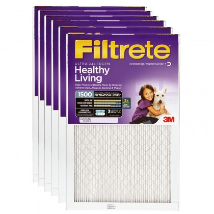 23.5x23.5x1 3M Filtrete Ultra Allergen Filter (6-Pack)
