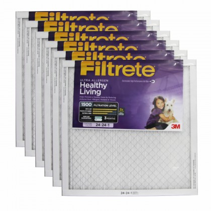 24x24x1 3M Filtrete Ultra Allergen Filter (6-Pack)