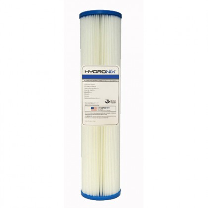 Hydronix SPC-45-2050 20-inch x 4.5-inch Pleated Sediment Water Filter 50 Micron