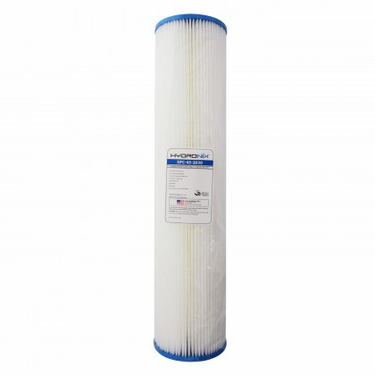 Hydronix SPC-45-2030 20-inch x 4.5-inch Pleated Sediment Water Filter 30 Micron