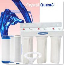 Crystal Quest Commercial Big-Inline Replaceable Triple Multi PLUS Water Filter System