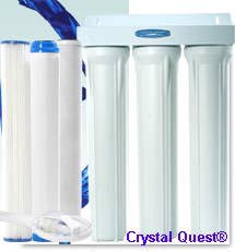 Crystal Quest Commercial 20-inch-Inline Replaceable Triple Multi Water Filter System