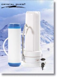 Crystal Quest Countertop Replaceable Single Multi PLUS Water Filter System