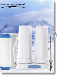 Crystal Quest Countertop Replaceable Double Multi PLUS Water Filter System