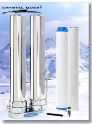 Crystal Quest Countertop Replaceable Double Tall/Multi ULTRA Water Filter System (Stainless Steel)