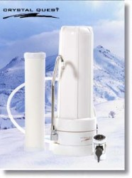 Crystal Quest Countertop Replaceable Single Ceramic Water Filter System