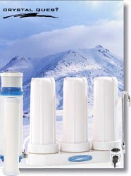 Crystal Quest Countertop Replaceable Triple Ceramic Water Filter System