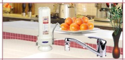 Crystal Quest Countertop Replaceable Single Fluoride Water Filter System