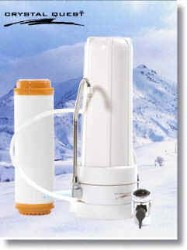 Crystal Quest Countertop Replaceable Single Nitrate Water Filter System