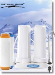 Crystal Quest Countertop Replaceable Double Nitrate PLUS Water Filter System