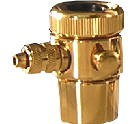 Crystal Quest C2B 1/4-Inch Tube gold countertop diverter push-in w/Collar