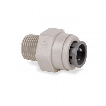 John Guest PI011203S Male Connector - Gray