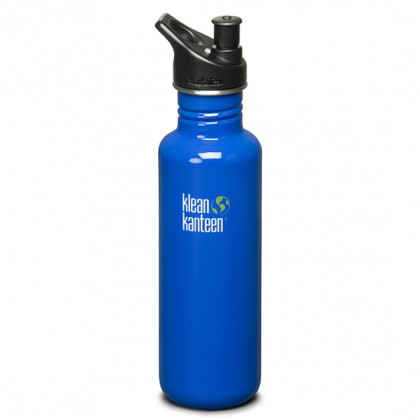K27PPS-OB Klean Kanteen Stainless Steel Water Bottle with Sport-Top - Ocean Blue (27 oz)
