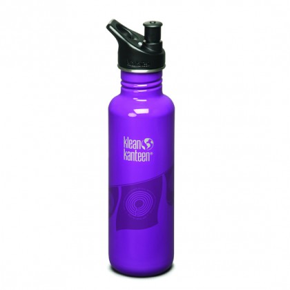K27BCFPFPP-PPS Klean Kanteen Stainless Steel Water Bottle with Sport-Top - Breast Cancer Fund Prayer Flag