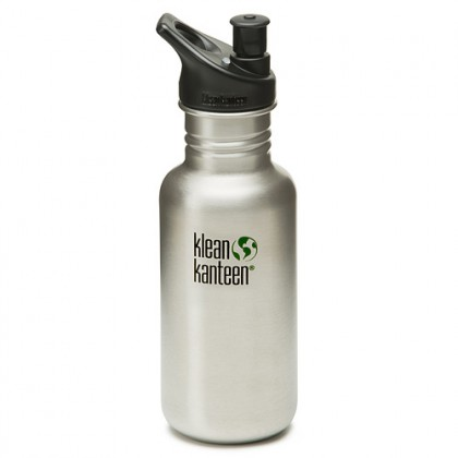 K18PPS Klean Kanteen Stainless Steel Water Bottle with Sport-Top (18 oz)