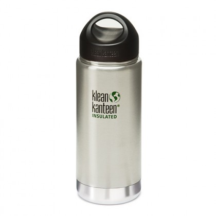 K16VWSSL Klean Kanteen Stainless Steel Wide Insulated Bottle with Loop-cap (16 oz)