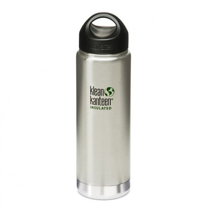 K20VWSSL Klean Kanteen Stainless Steel Wide Insulated Bottle with Loop-cap (20 oz)
