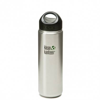 K27WSSL Klean Kanteen Stainless Steel Wide Bottle with Loop-cap (27 oz)