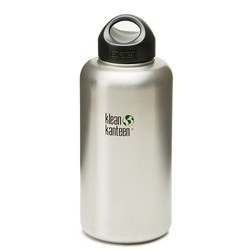 K64WSSL Klean Kanteen Stainless Steel Wide Bottle with Loop-cap (64 oz)