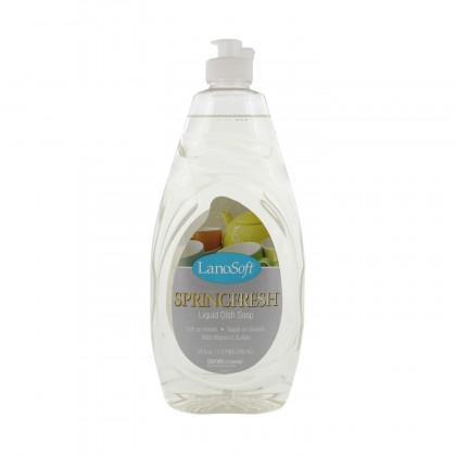 LSSD12 Lanosoft SpringFresh Liquid Dish Soap