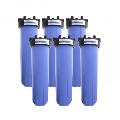 Pentek HFPP-34-PR-20 Big Blue Whole House 20 inch Filter (6-Pack)
