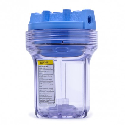 Pentek 158133 1/4-Inch #5 Clear/Blue Water Filter Housing