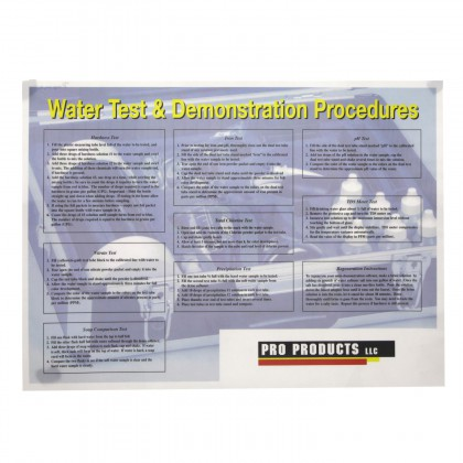 Test Instruction Placemat Promat by Pro Products