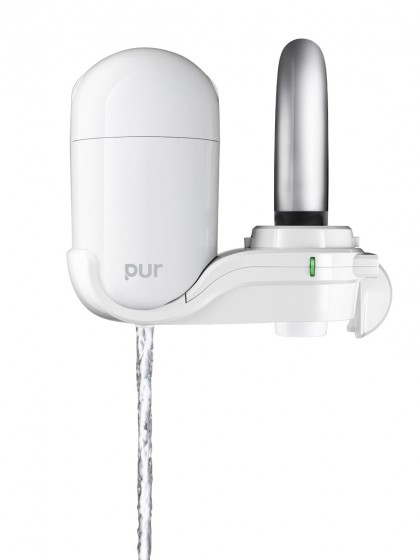 PUR FM-3333B 2-Stage Vertical Faucet Filter System - White