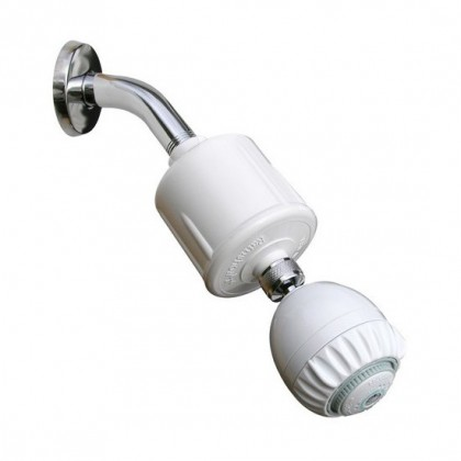 Rainshow'r RS-502-MS Shower Filtration System with Massaging Shower Head (White)