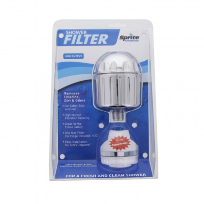 HO2-CM Sprite High Output Universal Chrome Shower Filter
