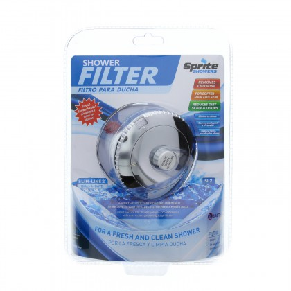 Sprite SL-CM Slim Line Universal Shower Filter System - Chrome