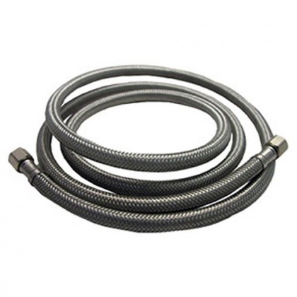 6-Foot Braided SS 1/4-inch Compression Water Line Install Supply Connector by Tier1