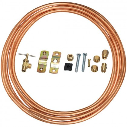 Copper 15-Foot 1/4-inch Water Line Install Supply Line Kit by Tier1