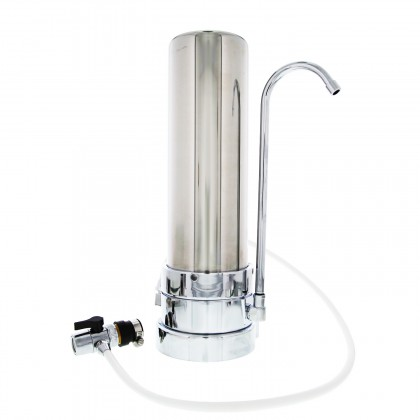 Tier1 CT-SS-1000 Countertop Drinking Water Filter System (Stainless Steel)